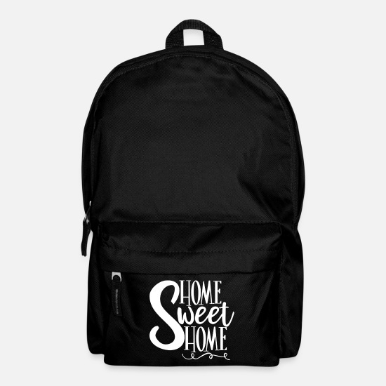 Bed Bags & Backpacks - Home Sweet Home Gift - Backpack black