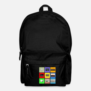 Zx Spectrum Pixel Retro Gaming Machines Squares - Backpack