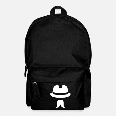 Facial Hair Hat with beard Male man facial hair - Backpack