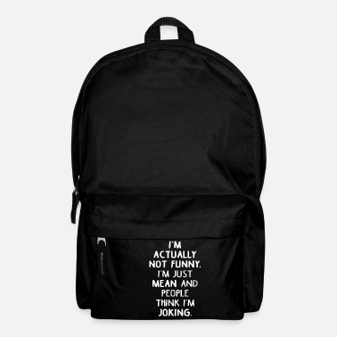 Sarcastic sarcastically - Backpack