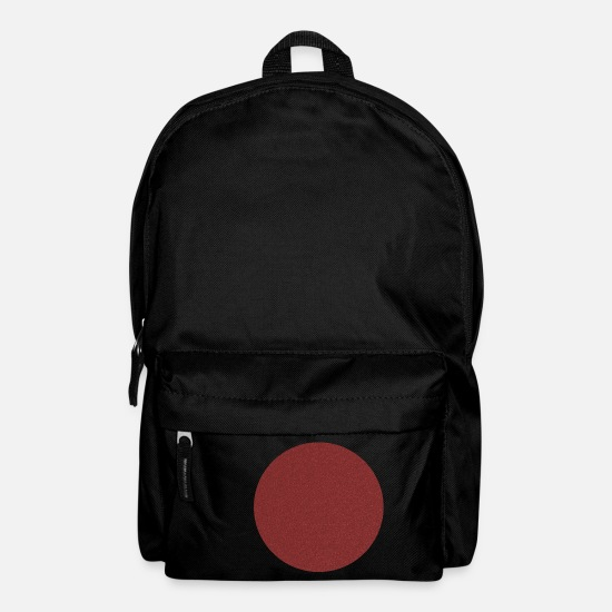 Red Bags & Backpacks - Red circle - Backpack black