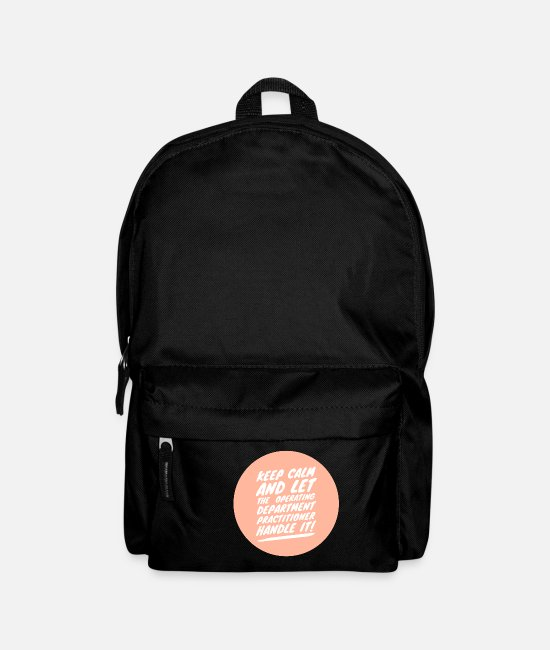 Operating Department Practice Bags & Backpacks - Keep calm 2 - Backpack black