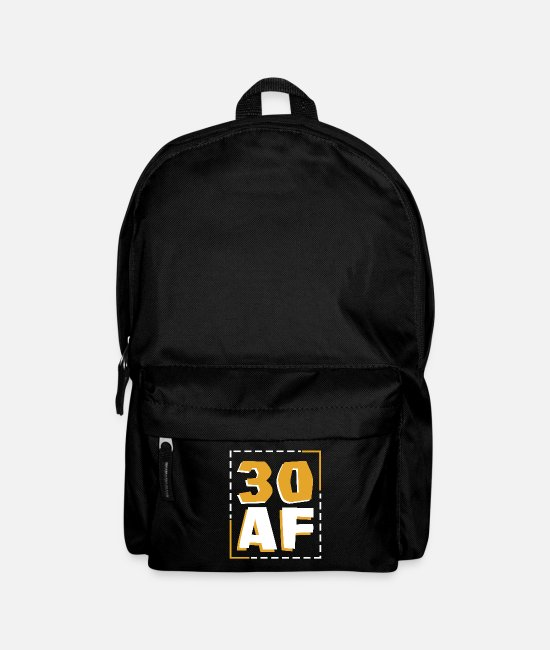 Birthday Bags & Backpacks - 30 AF - Backpack black
