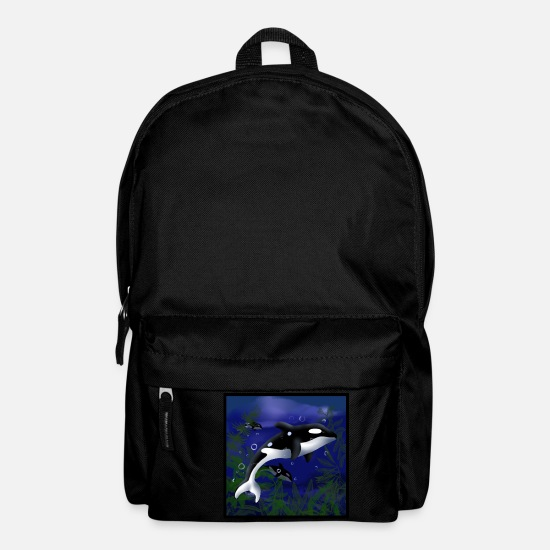 Wale Bags & Backpacks - Orcas killer whale - Backpack black
