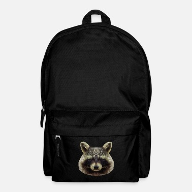 Raccoon small bear bear mammal polygon gift - Backpack