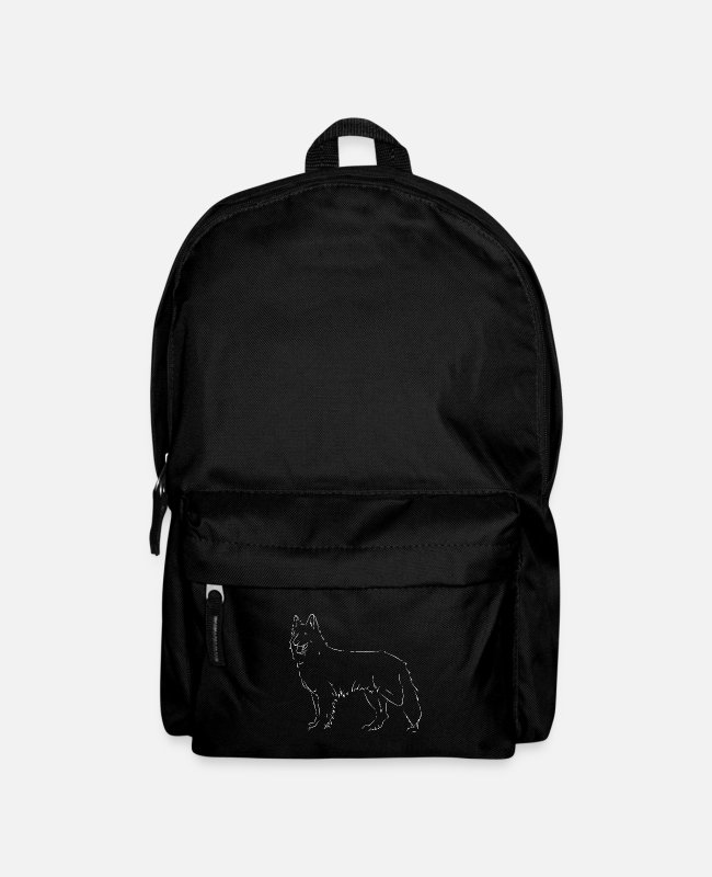 Drawing Bags & Backpacks - White Swiss Shepherd Dog - Backpack black