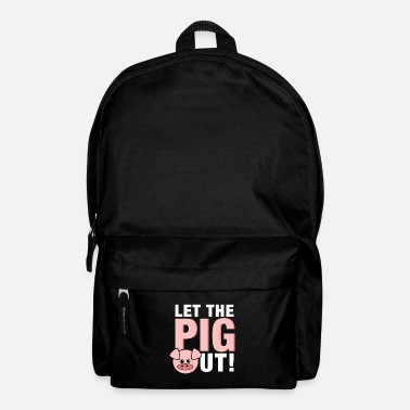 Hog BBQ Food Eat Piggy Swine Hogs Pork Farm Let The - Backpack