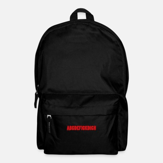 Birthday Bags & Backpacks - Irony ABCDEFICKDICH Sarcasm Funny provocative - Backpack black