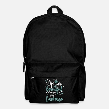 Association Cool Funny Lacrosse Sports Team Sayings Quotes - Backpack