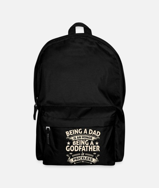 Honor Bags & Backpacks - BEING A GODFATHER - Backpack black