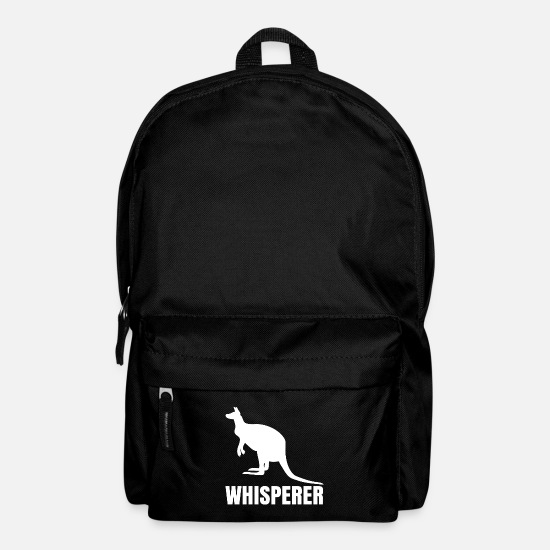 Outback Bags & Backpacks - Kangaroo Australia Marsupial Outback Gift - Backpack black