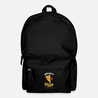 Pickup Line Cute Cheesy Pickup Line You Are A Pizza My Heart - Backpack