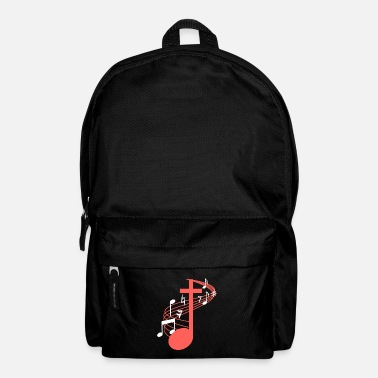 Church Note Cross Clef Church Choir Choral Music Chorus - Backpack