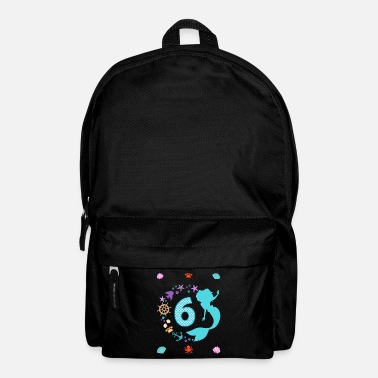 6th birthday mermaid cancer - Backpack