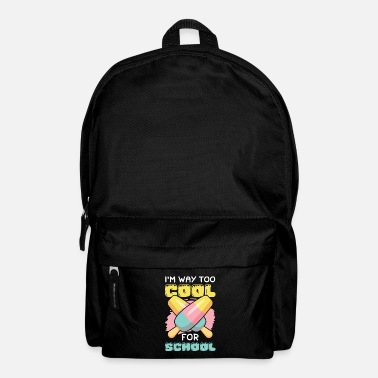 Bold Eis ice cream funny saying eat - Backpack