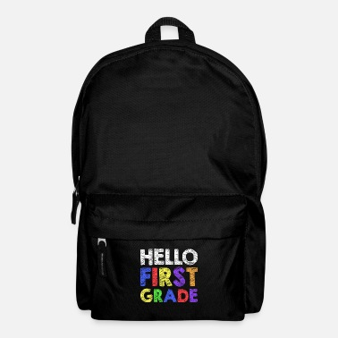Necklace Hello First Grade T-Shirt 1st Grade Back To School - Backpack