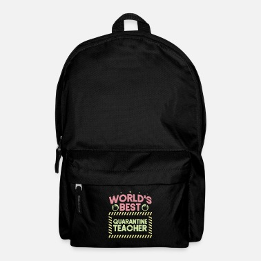 Héros World Best Quarantine Teacher School Funny Teacher - Sac à dos