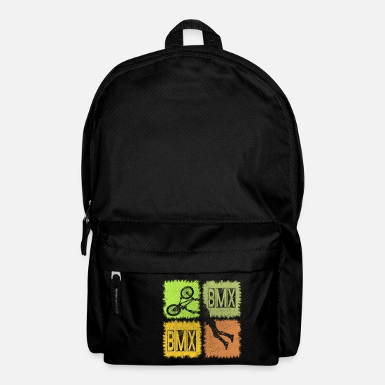 Birthday Bags & Backpacks - BMX Rider Action Shirt - Backpack black