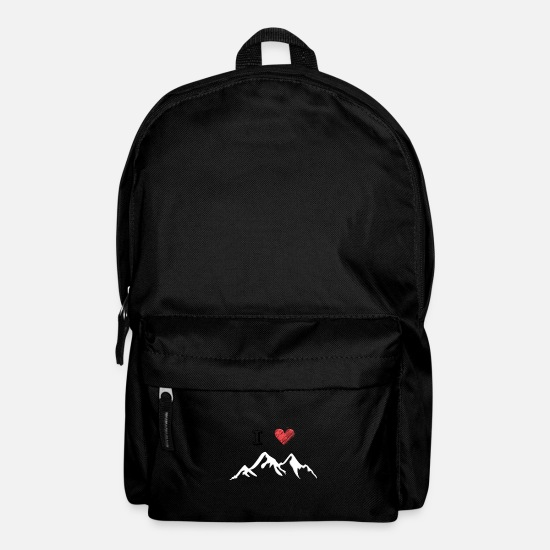 Love Bags & Backpacks - I love mountain love - Backpack black