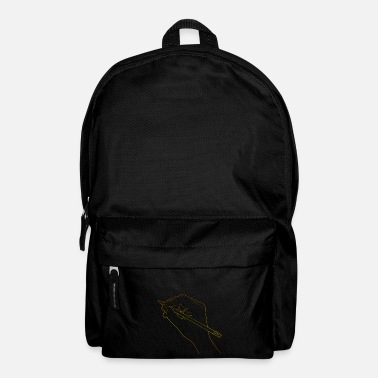 Drawing Draw Drawing Human Hand Drawing Line Drawing - Backpack
