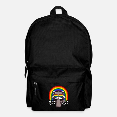 Parade Raccoon Gay Pride LGBT Rainbow - Backpack