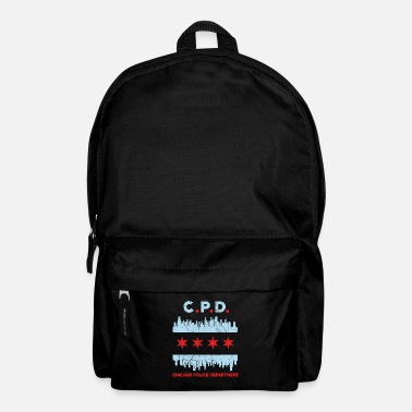 Cop Chicago Police Flag Chicagoan Apparel Gift - Backpack