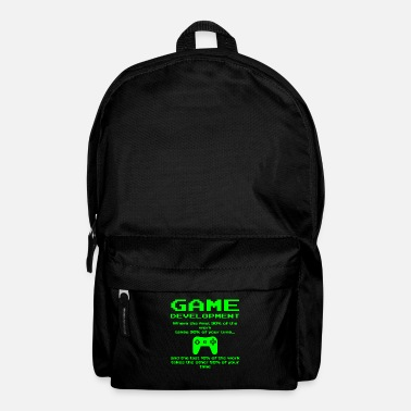 Indie Indie Game Developer Funny Development Designer - Backpack