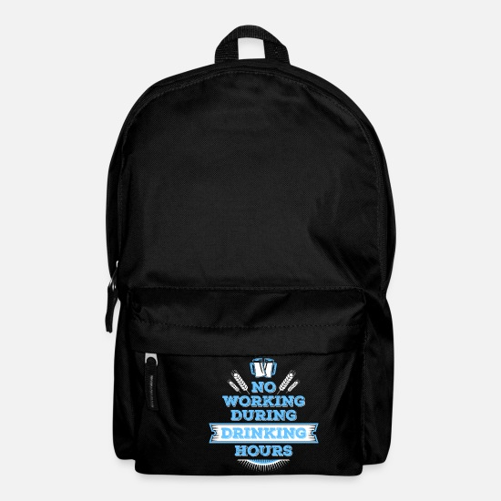 Friday Evening Bags & Backpacks - No working during drinking - Backpack black