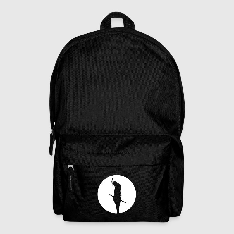 Japan Samurai Warrior - silhouette (Japan flag) - Backpack