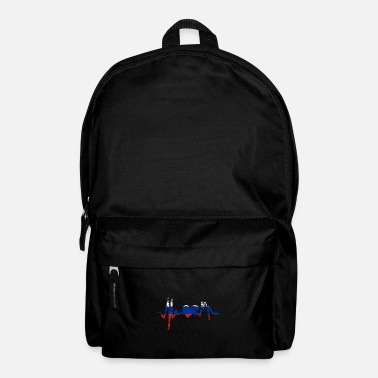 Russia Russia heartbeat Russia - Backpack
