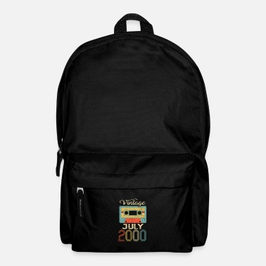 Tape Vintage July 2000 20th Birthday 20 Year Gift - Backpack