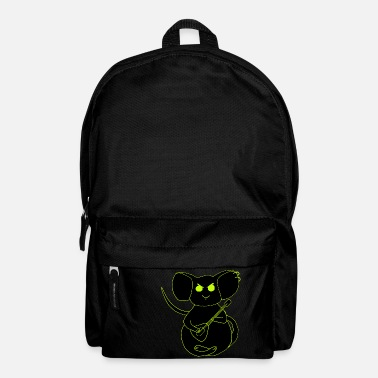 angry rock mouse neon - Backpack