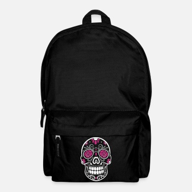 Traditional Mexican sugar skull, day of the dead. - Backpack