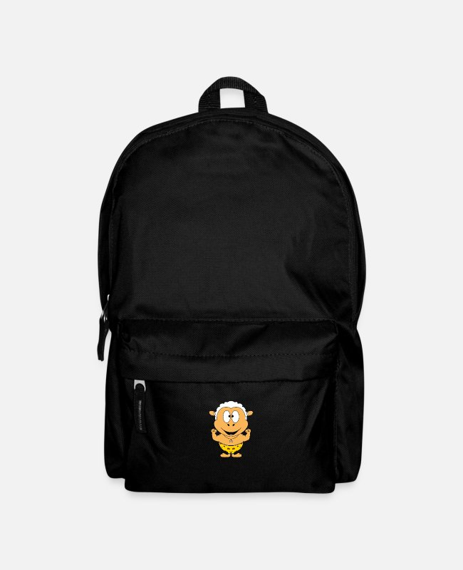 Neanderthal Bags & Backpacks - Funny Sheep - Stone Age - Neanderthals - Backpack black