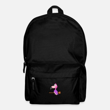 Humour Funny flamingo - witch - child - baby - animal - Backpack
