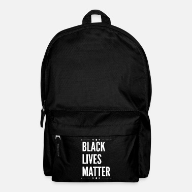 Black Black Lives Matter Slogan. African-American.Human. - Backpack