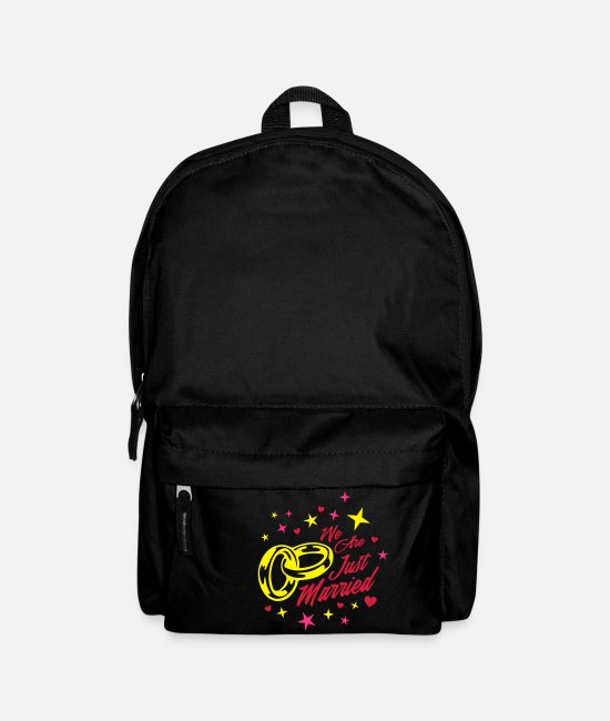 Heart Bags & Backpacks - we are just married - Backpack black