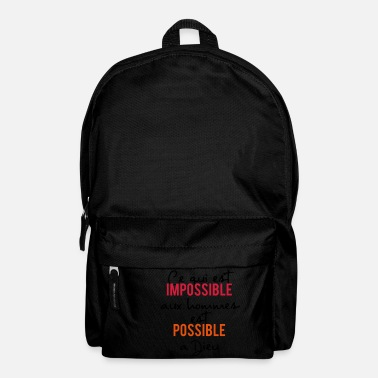 Jesus everything is possible to God - Backpack