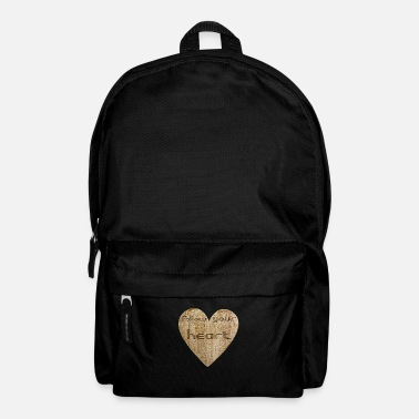 Sentiment Love - follow your heart - Sac à dos