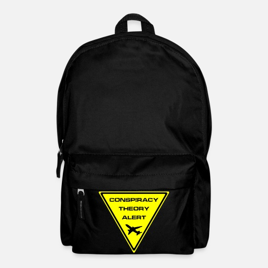 New World Order Bags & Backpacks - Conspiracy theory alarm closely. - Backpack black