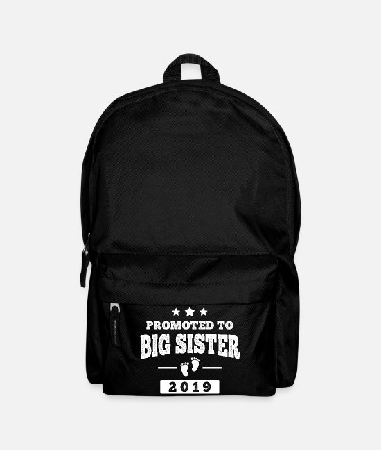 Pregnancy Bags & Backpacks - Promoted To Big Sister 2019 - Big sister baby - Backpack black