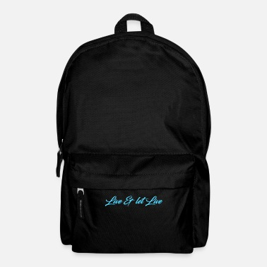 Live Live & let Live - Backpack
