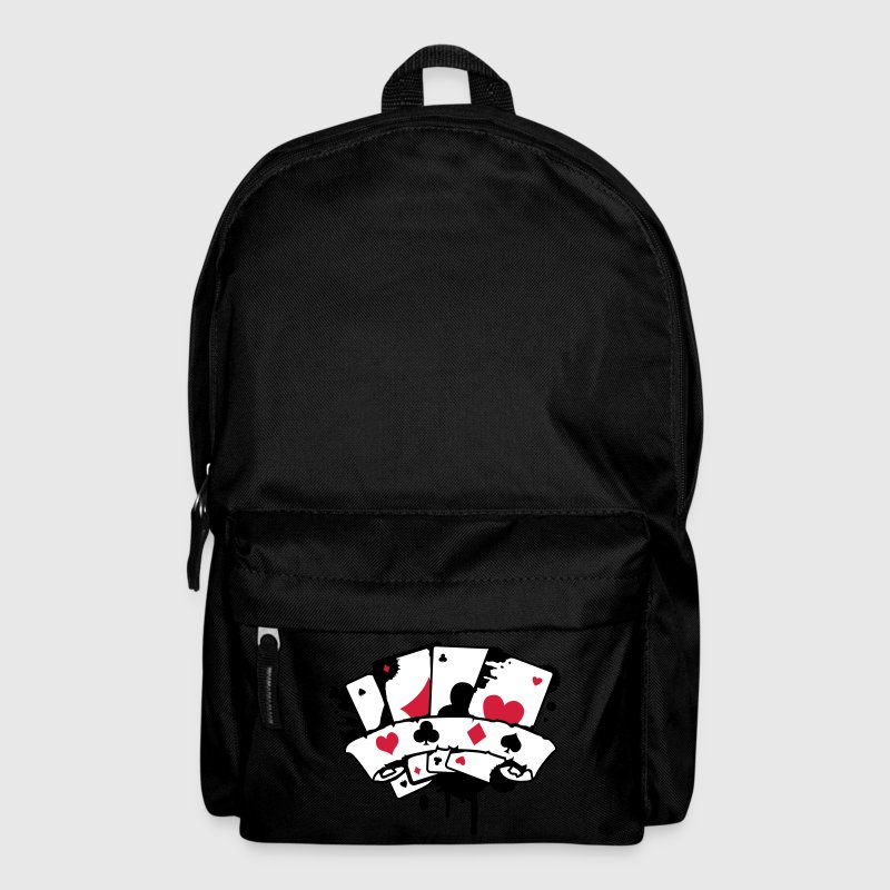 four playing cards and a banner - Backpack