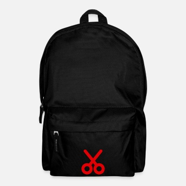 Icon Icon scissors red icon pictogram - Backpack