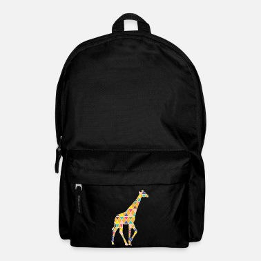 A colorful graphic Giraffe - Backpack