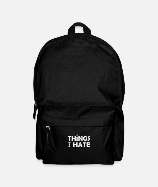 Laptop Bags & Backpacks - Things i hate internet charging battery - Backpack black