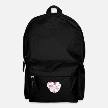 Steal Valentine's Day Polar Bear Hearts Emoji Pet Animal - Backpack