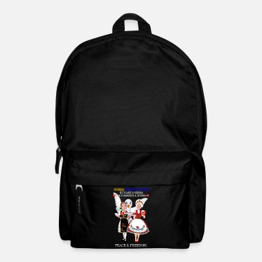 Peace Movement GLOBAL FREEDOM UNITED SERBIA HUNGARY NEW H V1 2 - Backpack