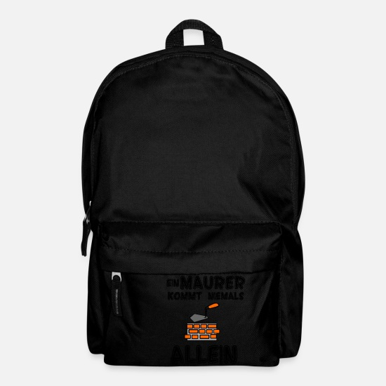 Concrete Bags & Backpacks - A mason never comes alone - Backpack black