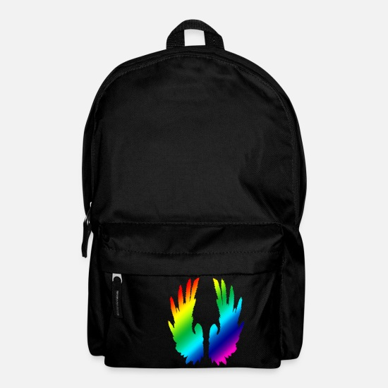 Wings Bags & Backpacks - Rainbow Wings - Backpack black